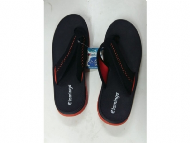 LAMINGO CREST SANDAL BLACK ORANGE