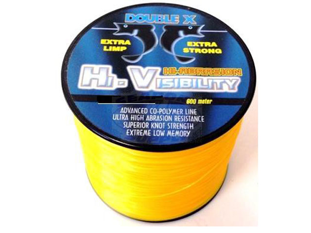 Double x hi abrasion hi visibility yellow 100m for Hi vis fishing line