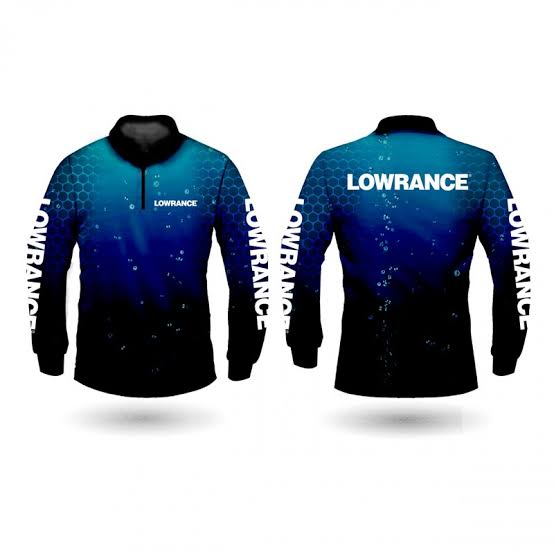 LOWRANCE BLUE BRANDED SHIRT