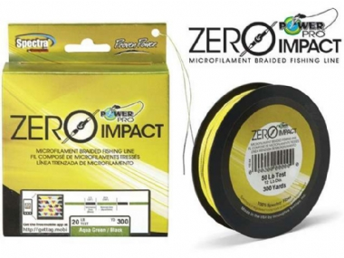 POWER PRO ZERO IMPACT AQUA GREEN /BLACK 300YDS